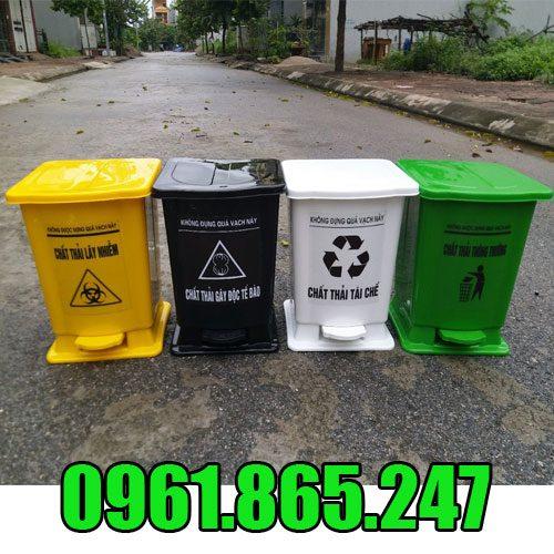 Thùng rác nhựa đạp chân 30l
