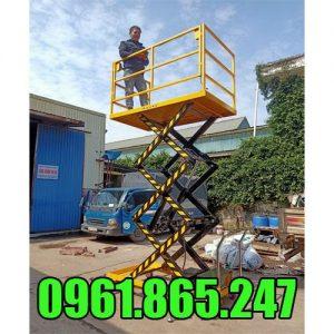 Xe nâng bàn điện 500kg 3m