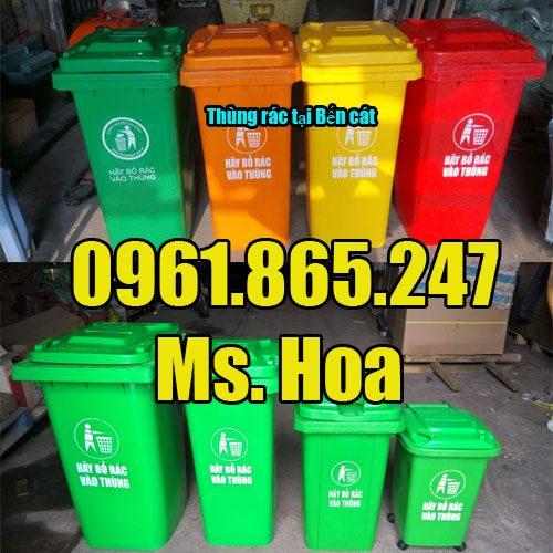 Thùng đựng rác tại Bến Cát