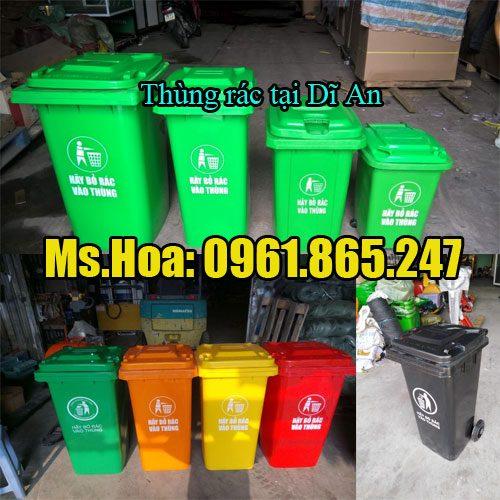 Thùng rác tại Dĩ an